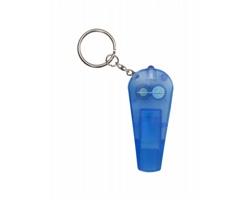 Plastový přívěsek na klíče COACH se světlem a píšťalkou - modrá