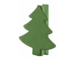 Dřevěný kolíček HANTALA s vánočním motivem - zelená