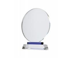Kulatá křišťálová trofej TOURNAMENT - transparentní