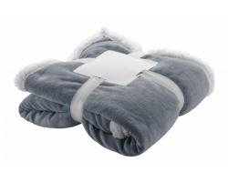 Fleecová deka SAMMIA - tmavě šedá / bílá
