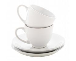 Sada keramických šálků na espresso MOCCA, 90 ml - bílá