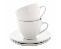 Sada keramických šálků na cappuccino TYPICA, 2 ks - bílá