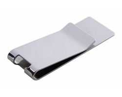 Kovový klip na peníze JUPITER s otvírákem - stříbrná