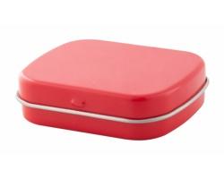 Plechová krabička s mentolovými bonbóny FLICKIES - červená