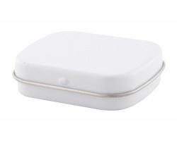 Plechová krabička s mentolovými bonbóny FLICKIES - bílá