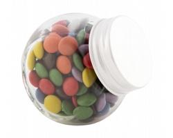 Sklenice s čokoládovými bonbóny SHUKULAT, 40 g - bílá