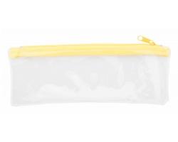 Plastové pouzdro na pera ZEPPY - žlutá / transparentní