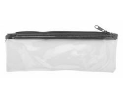 Plastové pouzdro na pera ZEPPY - černá / transparentní