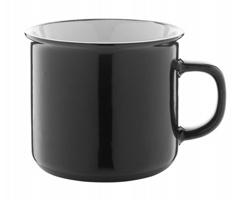 Keramický hrnek WOODSTOCK, 320 ml - černá