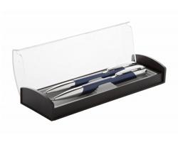 Sada kovového pera a mechanické tužky KLOFY - modrá