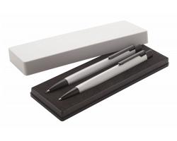 Sada kovových psacích potřeb TRIPPY - stříbrná