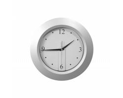 Plastové nástěnné hodiny BRATTAIN - stříbrná / černá