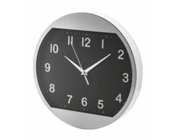 Kovové nástěnné hodiny TUCANA - černá / stříbrná