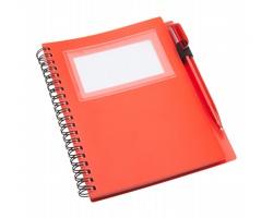 Poznámkový blok TAGGED s kuličkovým perem - červená