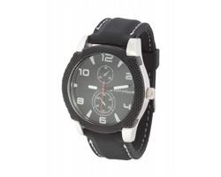 Značkové pánské hodinky MARQUANT - černá / stříbrná