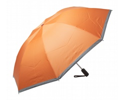 Plně automatický skládací deštník THUNDER s reflexními pruhy - oranžová