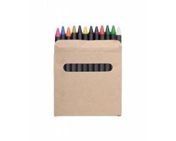 Sada 12 voskovek LOLA v papírové krabičce - černá / béžová