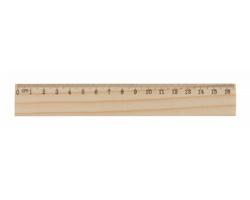 Dřevěné pravítko ONESIX z borového dřeva, 16 cm - přírodní