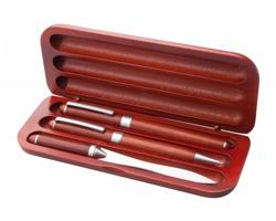 Dřevěná psací sada ROWOTRI s otvíračem na dopisy - červená