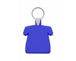 Plastový přívěsek na klíče POLO ve tvaru trička - modrá
