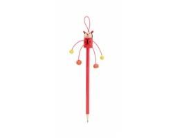 Dřevěná tužka FARM s figurkou - červená
