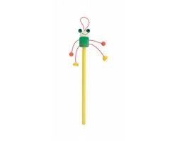 Dřevěná tužka FARM s figurkou - žlutá / zelená