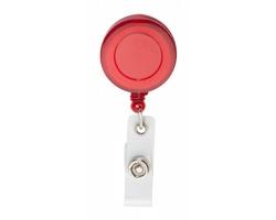 Plastový samonavíjecí držák na skipass SLOPE - červená