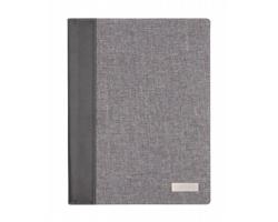 Konferenční desky SMOKEY A4 s poznámkovým blokem, formát A4 - šedá