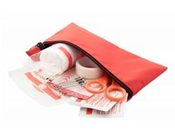Cestovní lékárnička DOC2GO v pouzdru na zip - červená