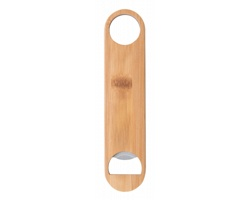 Nerezový barmanský otvírák lahví BOOJITO s bambusovým povrchem - přírodní / stříbrná