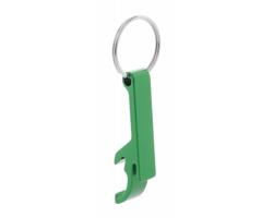 Kovový otvírák RUSSEL s kroužkem na klíče - zelená
