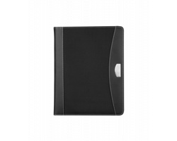 Konferenční desky CENTRAL A4 s koženými částmi, formát A4 - černá