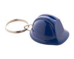 Plastový přívěsek na klíče BOBBY ve tvaru pracovní helmy - modrá