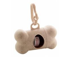 Plastový zásobník na sáčky na psí exkrementy BOCIN ve tvaru kosti - béžová