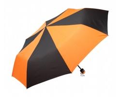 Manuální skládací deštník SLING - černá / oranžová