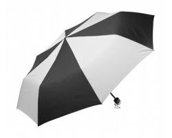 Manuální skládací deštník SLING - černá / bílá