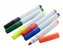 Sada plastových fixů MUGMARK, 6 ks - vícebarevná