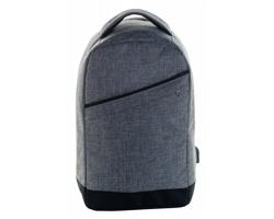Polyesterový městský batoh MUSK s ochranou proti krádeži - šedý melír