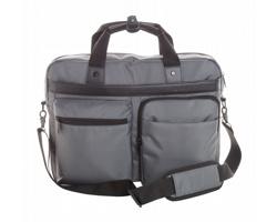 Polyesterová taška na dokumenty LORIENT D s prostorem na notebook - šedá