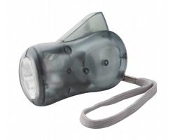 Plastová svítilna H POWER s dynamem - tmavě šedá