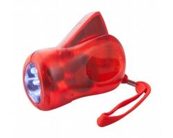 Plastová svítilna H POWER s dynamem - transparentní červená