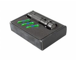 Kovová svítilna EVERWOOD v dárkové krabičce - černá