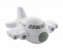 Antistresová pomůcka JETSTREAM ve tvaru letadla - bílá