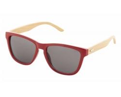 Plastové sluneční brýle COLOBUS s bambusovými nožičkami - červená