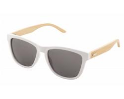 Plastové sluneční brýle COLOBUS s bambusovými nožičkami - bílá