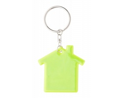 Reflexní přívěsek na klíče ABRAX ve tvaru domečku - bezpečnostní žlutá