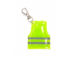 Přívěsek na klíče PIT LANE ve tvaru reflexní vesty - žlutá