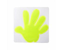 Plastová reflexní nálepka ASTANA ve tvaru ruky - žlutá