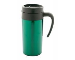 Kovový termohrnek GRABY, 350 ml - zelená / černá