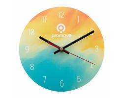 Skleněné nástěnné hodiny SUBOTIME se sublimací - transparentní / černá